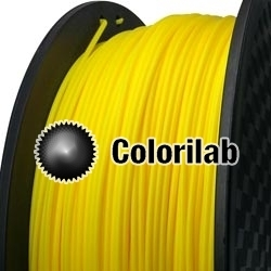 3D printer filament 3.00mm HIPS yellow 107C