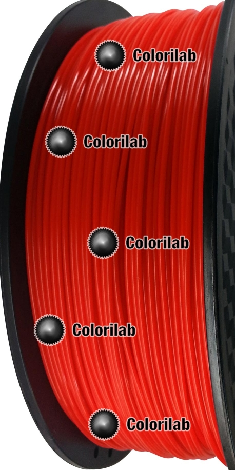 3D printer filament 3.00mm PLA close to red Bright Red C