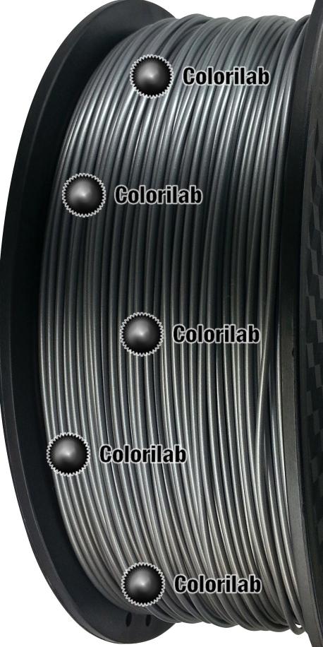 Filament d'imprimante 3D PLA 3.00 mm couleur poudre d'aluminium argentée 877C