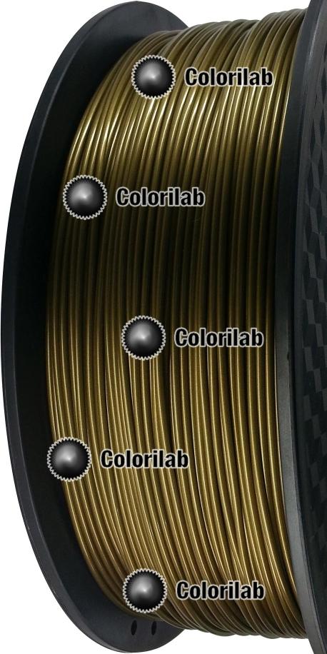 Filament d'imprimante 3D PLA 3.00 mm poudre bronze 871C