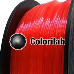 3D printer filament 1.75mm PLA fluorescent close to red 179 C