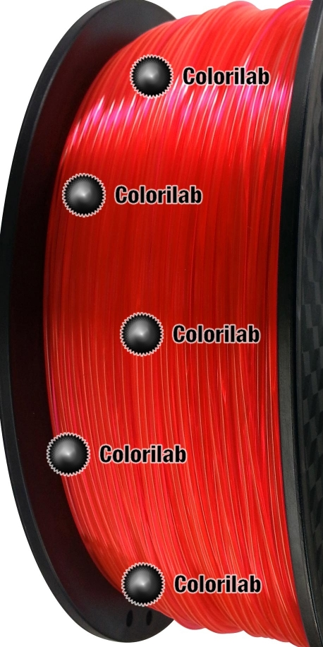 3D printer filament 1.75mm PLA fluorescent red 179C
