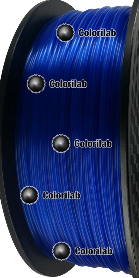 3D printer filament 3.00mm PLA translucent blue 293C