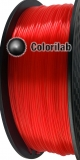 3D printer filament 1.75mm PLA translucent red 185C