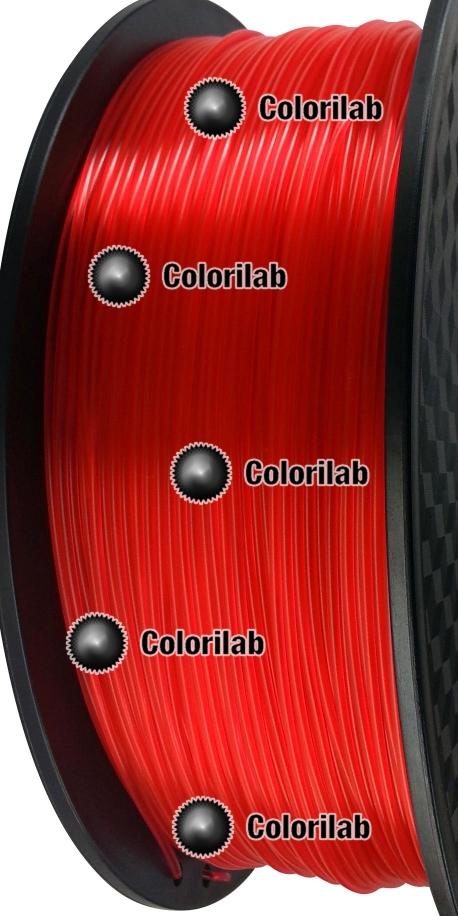 3D printer filament 3.00mm PLA translucent close to red 185 C