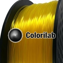 3D printer filament 1.75mm PLA translucent Yellow C