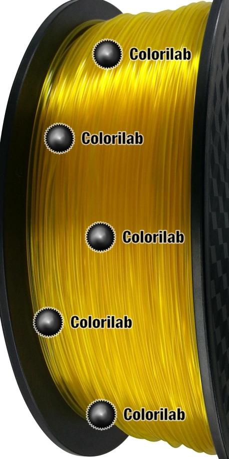 Filament d'imprimante 3D 1.75 mm PLA translucide jaune Yellow C
