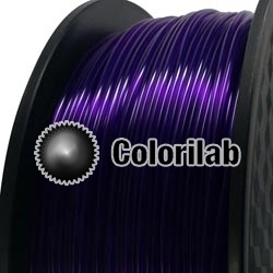 3D printer filament 1.75mm PLA translucent close to violet 2623 C