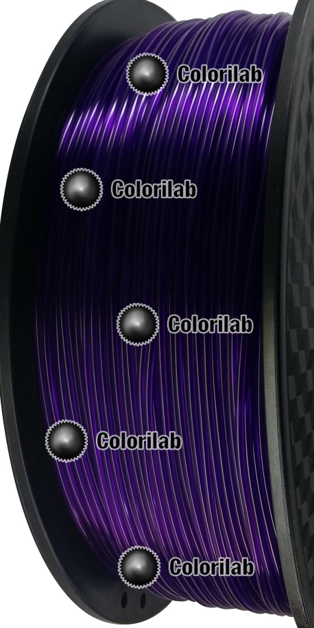 Filament d'imprimante 3D 1.75 mm PLA translucide violet 2623 C