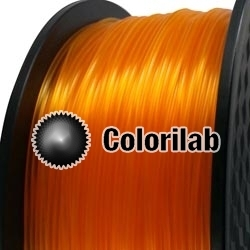 3D printer filament 1.75mm PLA translucent orange 1375C