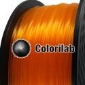 3D printer filament 1.75mm PLA translucent orange 1375C