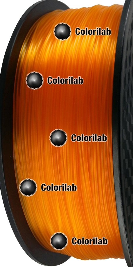 3D printer filament 1.75mm ABS translucent orange 1375 C