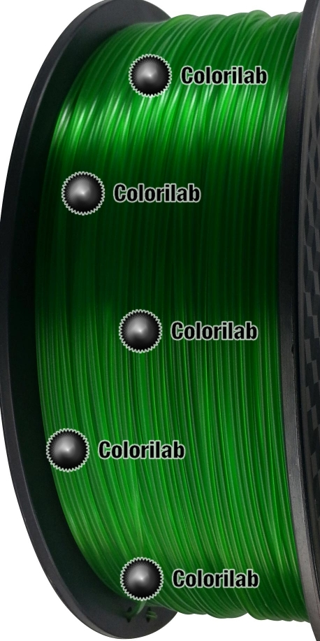3D printer filament 3.00mm PLA translucent green 7739C