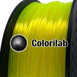 3D printer filament 1.75mm PLA fluorescent yellow 387 C