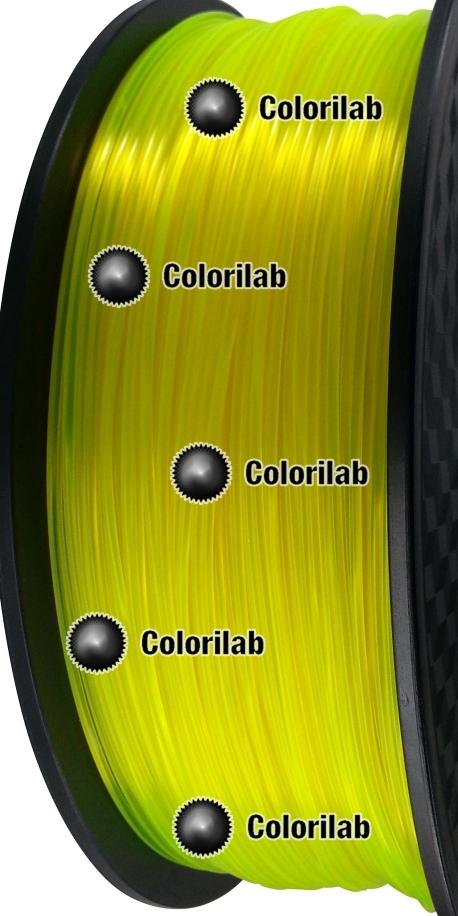 Filament d'imprimante 3D 1.75 mm ABS Fluorescent jaune 387 C