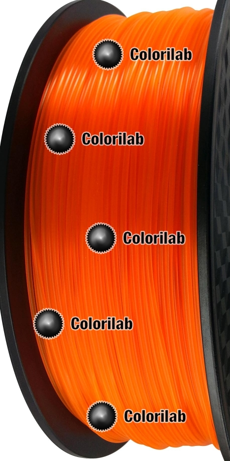 3D printer filament 3.00mm PLA fluorescent close to orange 2018 C
