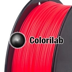 ABS 3D printer filament 1.75mm close to fluo red 1787 C