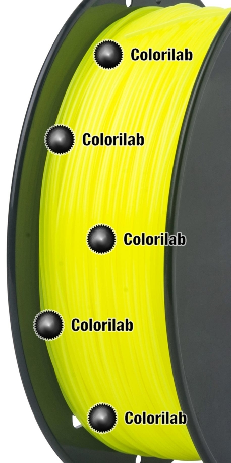 ABS 3D printer filament 3.00mm fluo yellow 382C