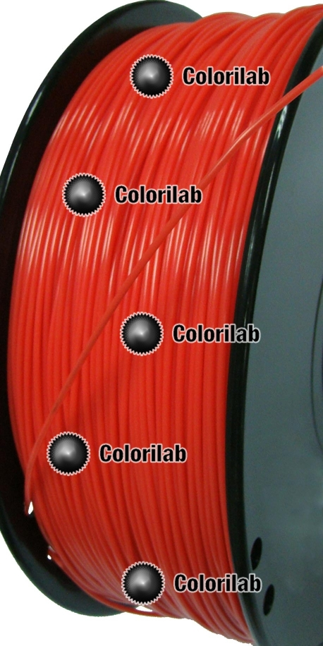 ABS 3D printer filament 1.75 mm close to red 1795 C