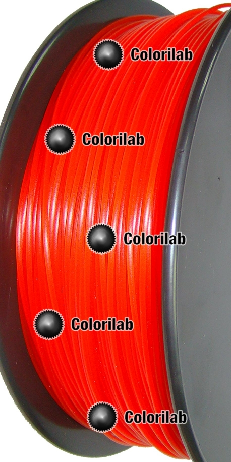 Filament d'imprimante 3D PLA 3.00 mm rouge translucide 485C