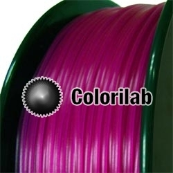 PLA 3D printer filament 3.00 mm translucent violet 248C