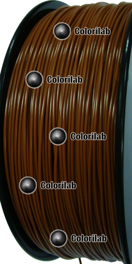ABS 3D printer filament 1.75 mm close to brown 7567 C