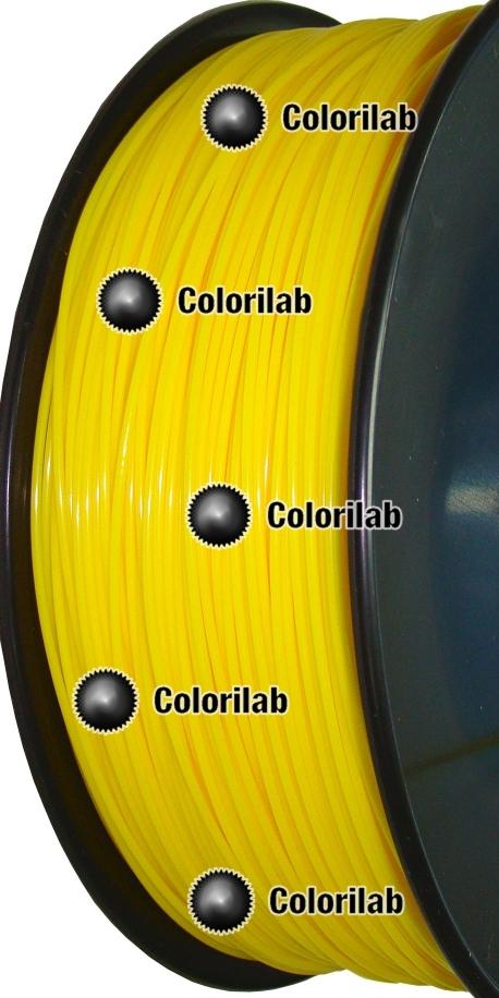 PLA 3D printer filament 1.75 mm close to dark yellow 107 C
