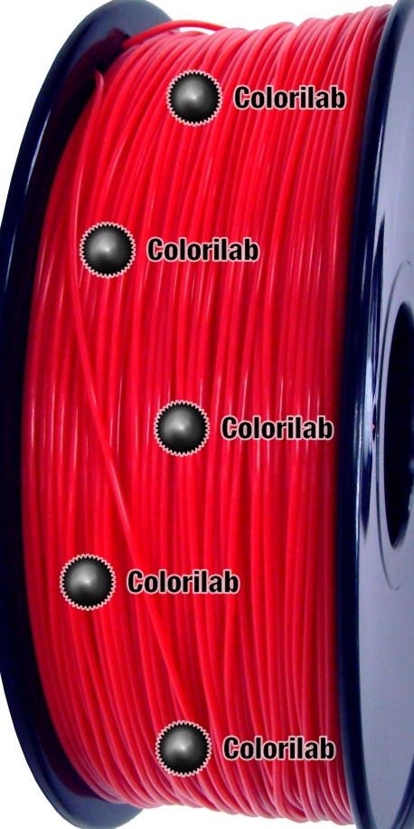 ABS 3D printer filament 1.75mm fluo red 032C