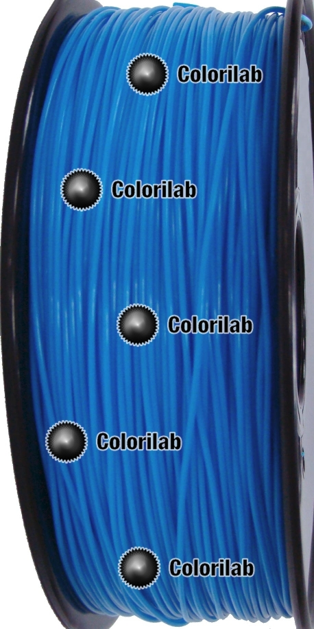 Filament d'imprimante 3D PLA 1.75 mm bleu fluo 2995 C