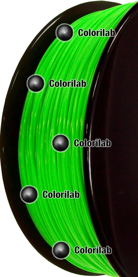 ABS 3D printer filament 1.75 mm close to fluo green 2271 C