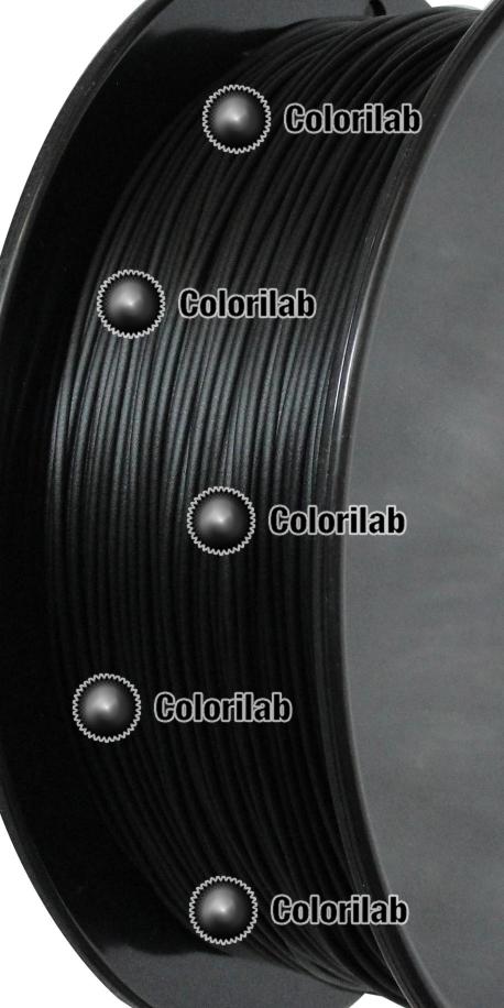 Filament d'imprimante 3D PLA 1.75 mm noir de jais