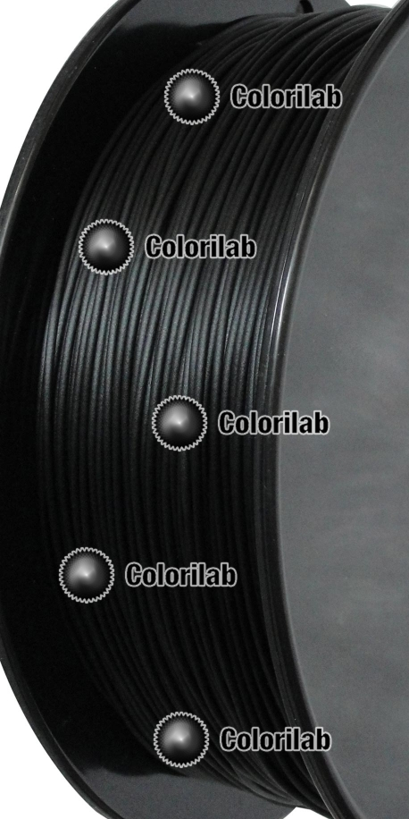 PLA 3D printer filament 3.00mm jet black