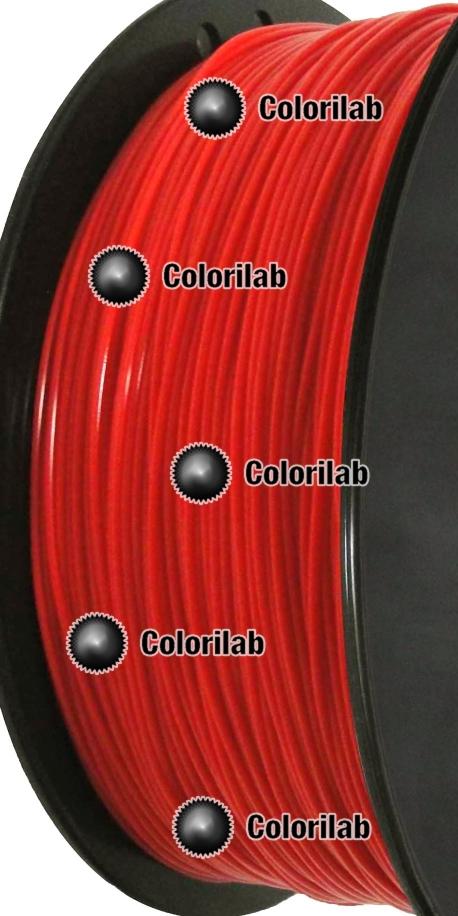 Filament d'imprimante 3D PLA 3.00 mm rouge 1795 C