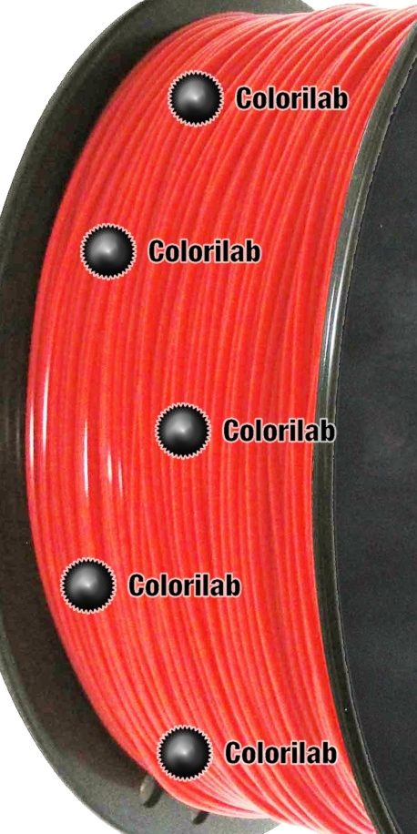 Filament d'imprimante 3D PLA 1.75 mm rouge fluo Bright Red C
