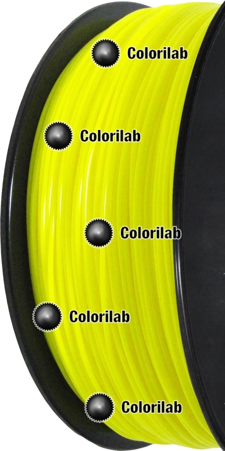 PLA 3D printer filament 1.75mm fluo yellow 389C