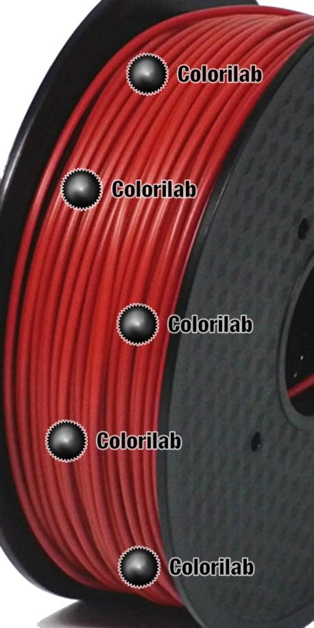 Filament d'imprimante 3D 1.75 mm PLA rouge foncé 7598C