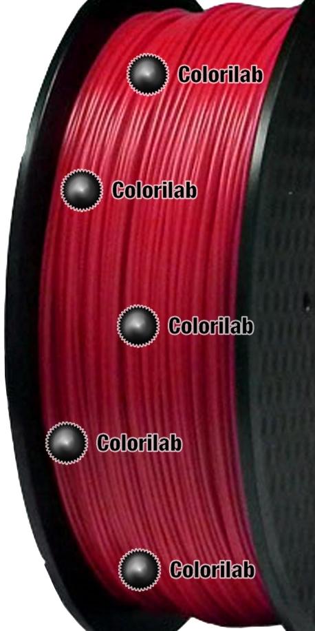 Filament d'imprimante 3D PLA 3.00 mm rouge 485C