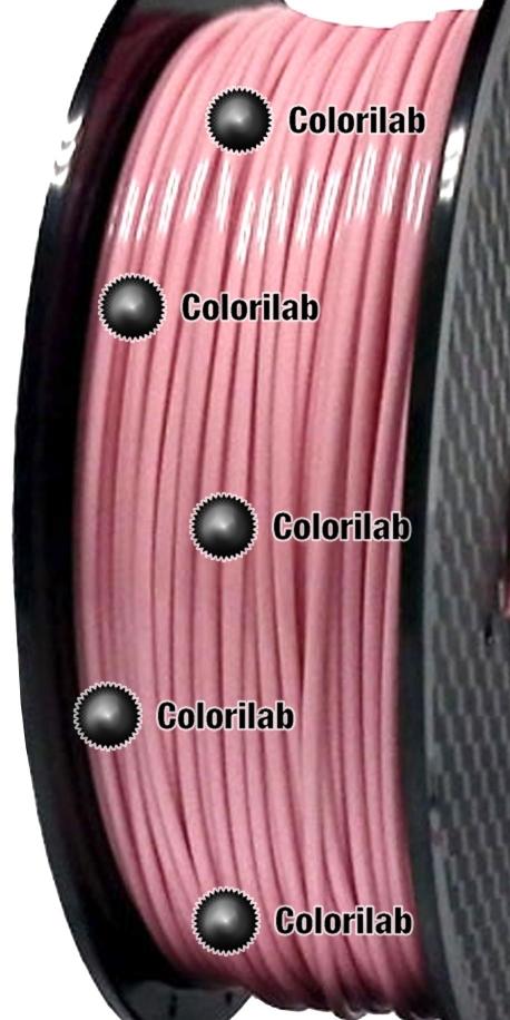 Filament d'imprimante 3D 2.85 mm PLA rose pastel 0331C