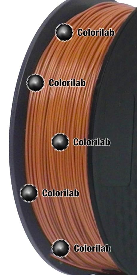 Filament d'imprimante 3D 1.75 mm PLA brun 7516C