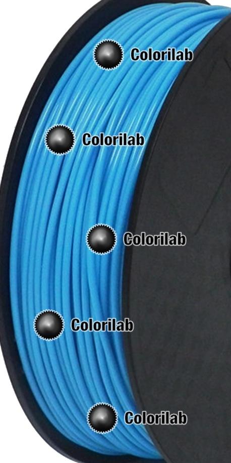 Filament d'imprimante 3D 3.00 mm PLA bleu pâle 2995C