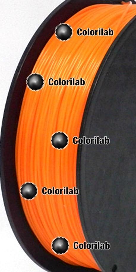 Filament d'imprimante 3D 1.75 mm ABS Fluo orange 716C