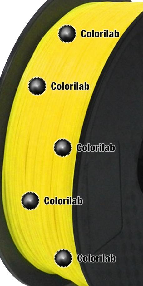 Filament d'imprimante 3D 1.75 mm PETG jaune 012 C