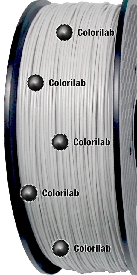 ABS 3D printer filament 1.75 mm close to grey 427 C