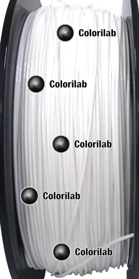 Filament d'imprimante 3D 3.00 mm HIPLA blanc
