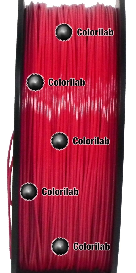 Filament d'imprimante 3D 1.75 mm PETG rouge 2035C
