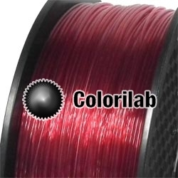 Filament d'imprimante 3D PETG 1.75 mm rouge translucide