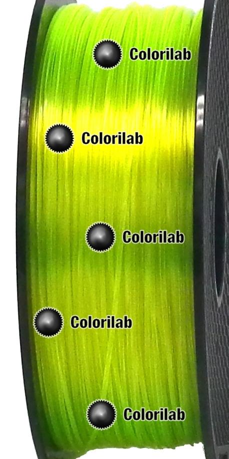 Filament d'imprimante 3D PETG 1.75 mm jaune translucide