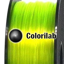 Filament d'imprimante 3D PETG 3.00 mm jaune translucide