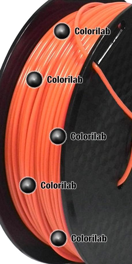 TPU 90A 3D printer filament 2.85 mm close to orange Bright Orange C