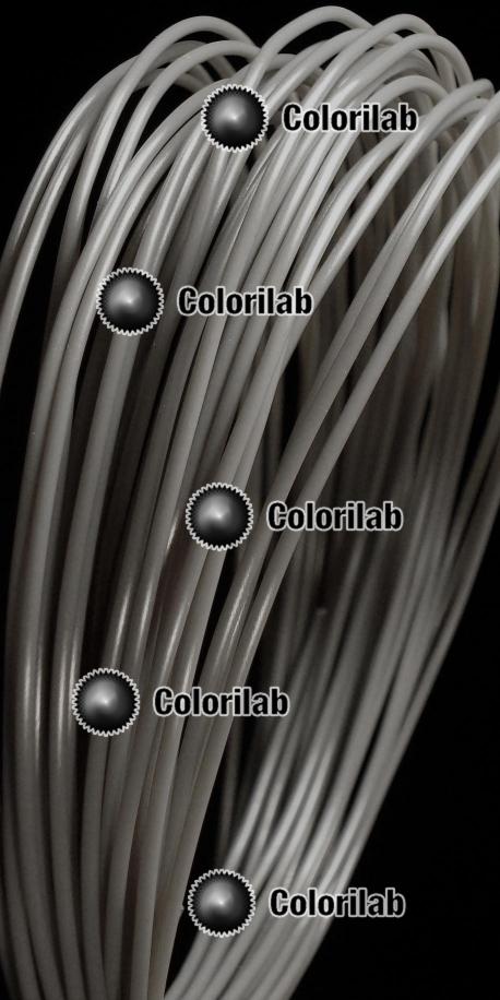 PLA 3D printer filament 1.75 mm grey Cool Gray 9C